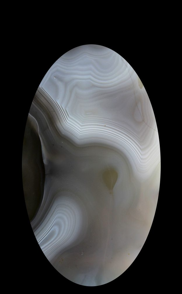 black and white agate