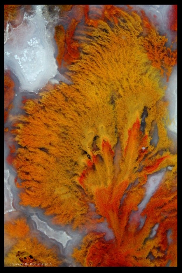 Death Valley, Wingate Pass plume agate