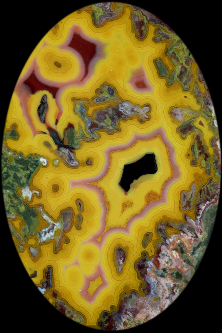 Bright colored agate from Kentucky