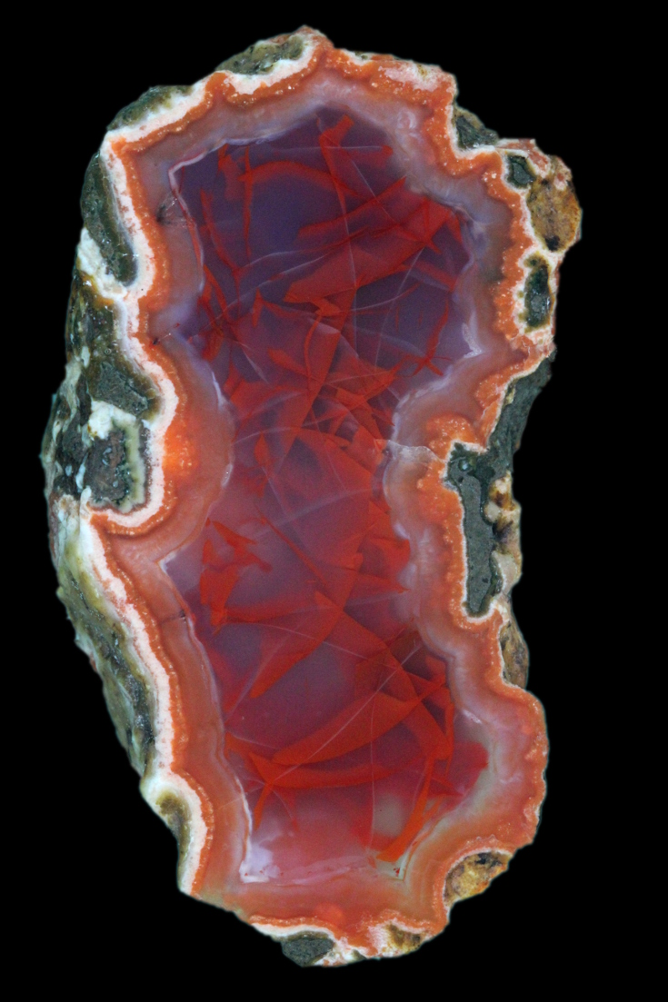 Morocco, Berber agate with unusual pattern.