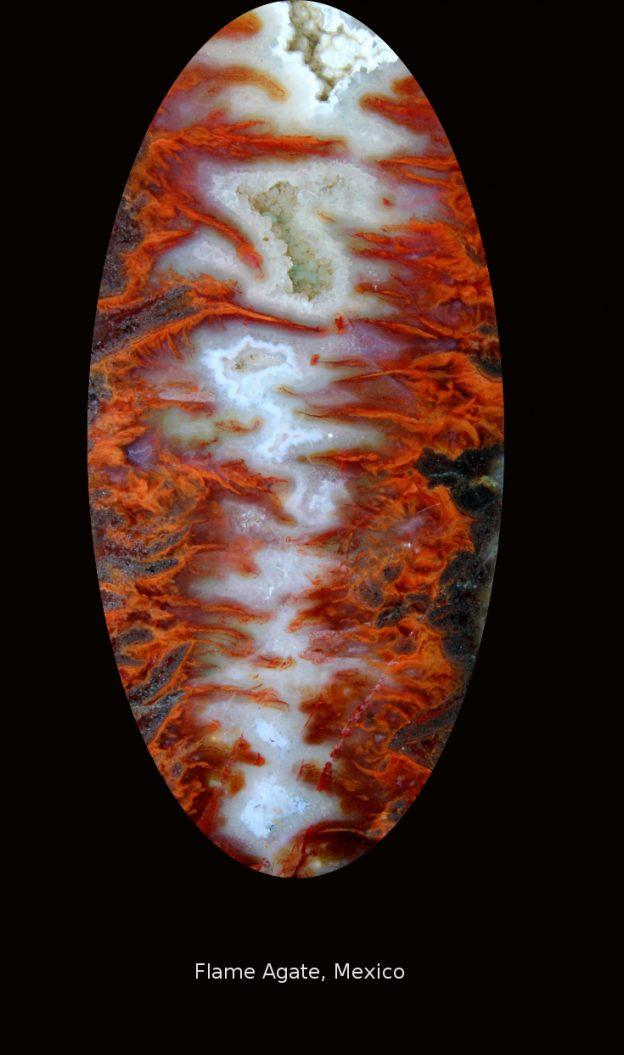 Seam agate with very strong plame pattern