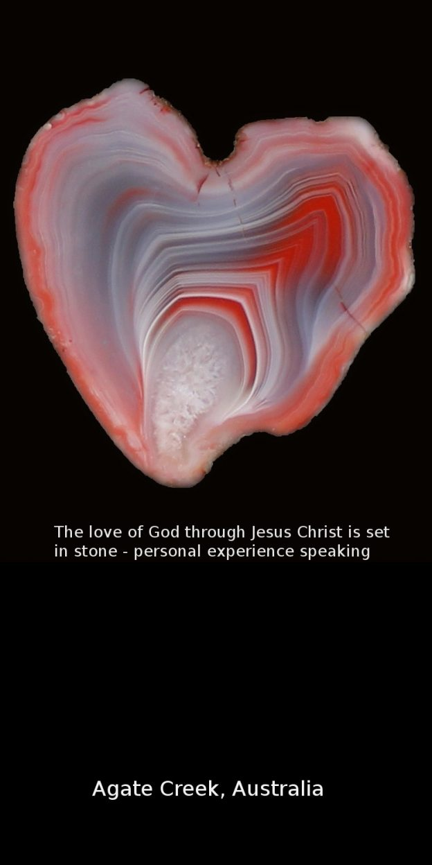 Heart shaped agate from Australia