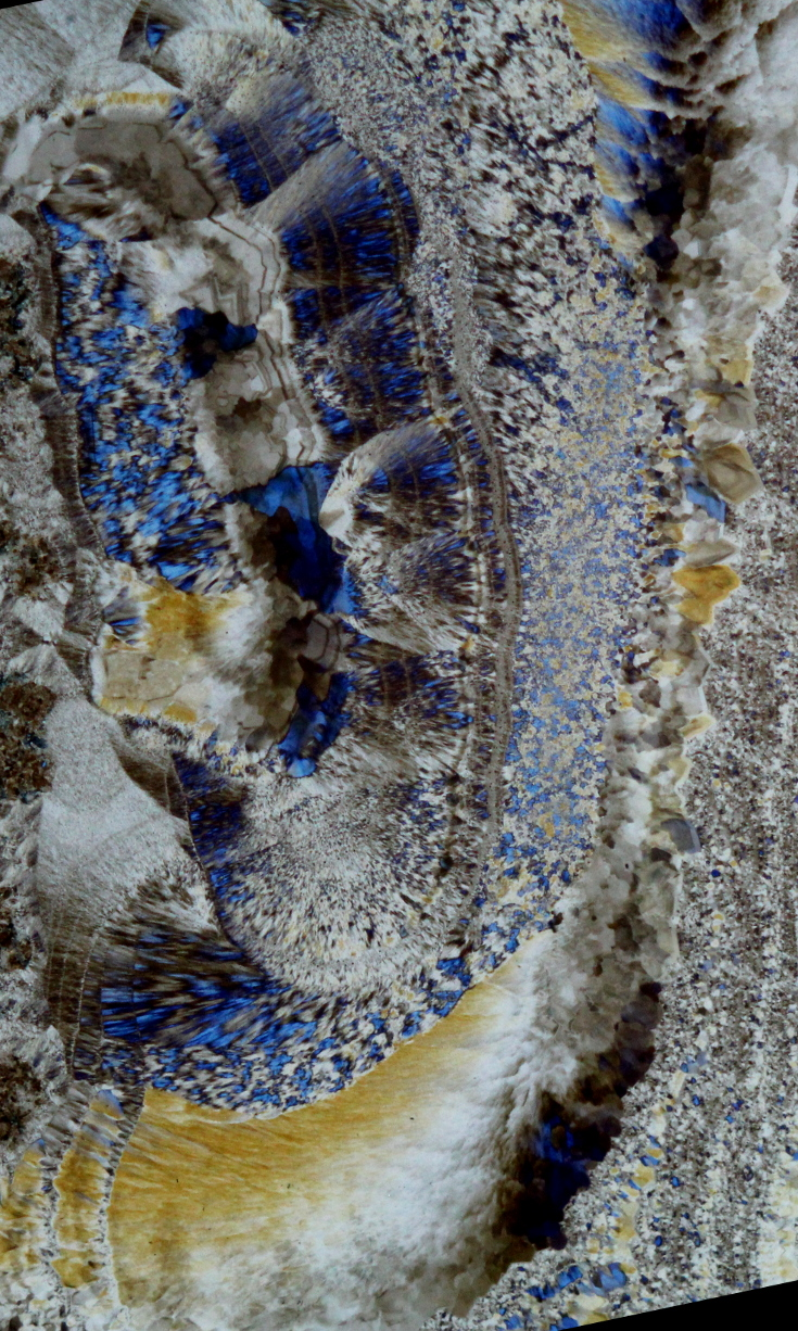 Thinsection macrophotograph of Ocos Agate.